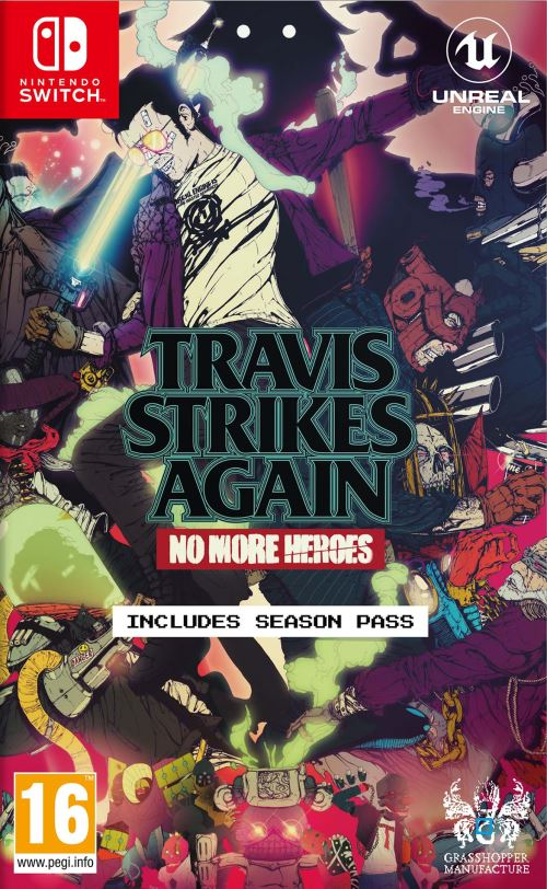 Travis Strikes Again No More Heroes Switch cover